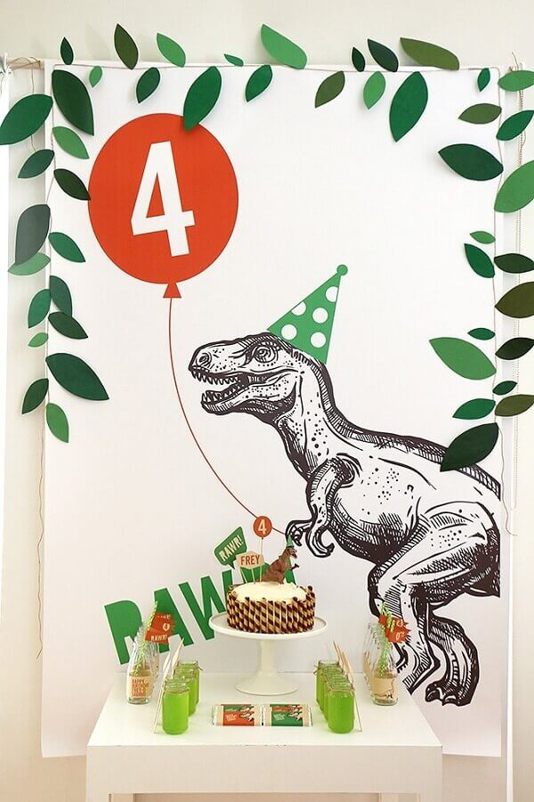 decoration for simple dinosaur party Foto D' Athelier BY Dani