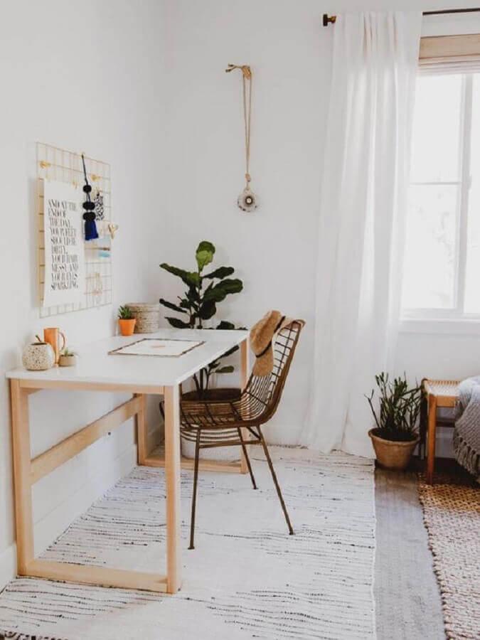 decoração para home office simples Foto A Casa Delas