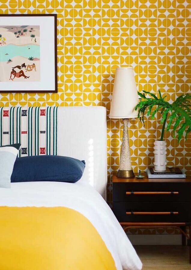 decoração para quarto de casal amarelo Foto Arquitetando Estilos