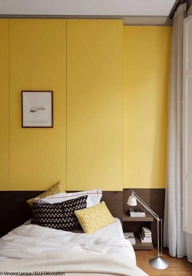 decoração para quarto de casal amarelo Foto Pinterest