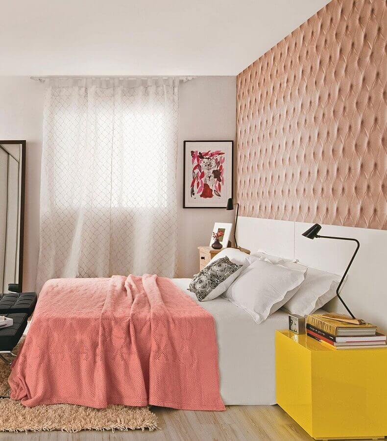 decoração para quarto de menina amarelo e rosa Foto Marques Arq & Design
