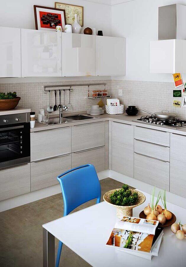 decoração simples para cozinha modulada Foto Pinterest