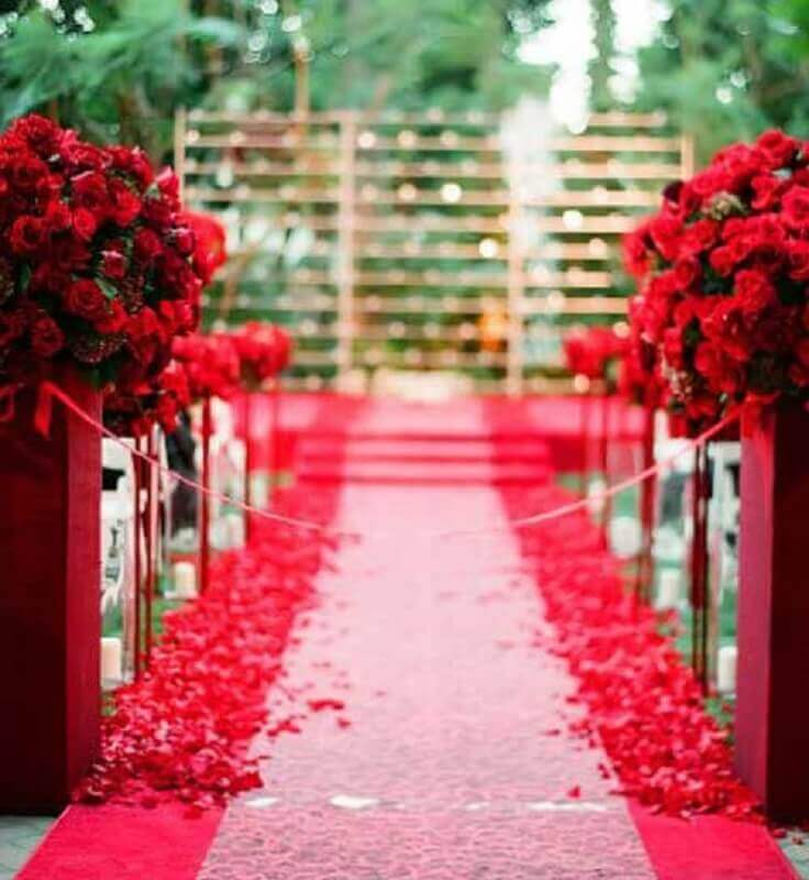 red decoration for wedding colors Foto enfim Noivei