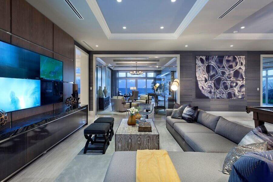decorar casas de luxo por dentro com estilo moderno Foto Architizer