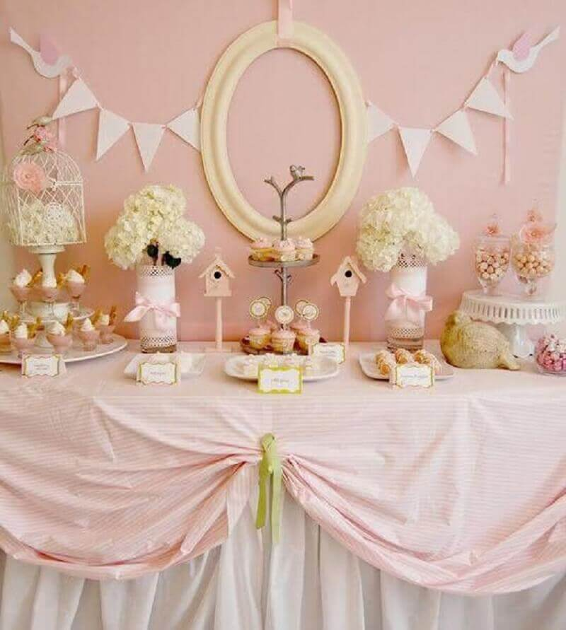 delicate decoration of christening girl Photo Catch My Party