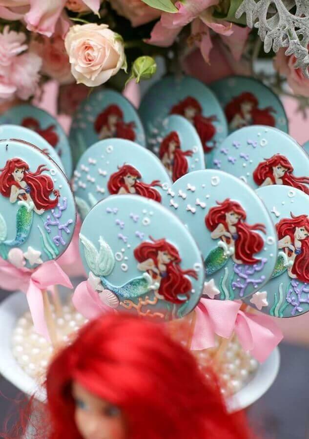 doces personalizados para festa pequena sereia  Foto Ideias Decor