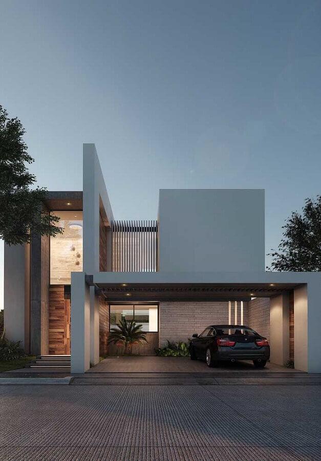 fachadas de casas de luxo modernas Foto Ideias Decor