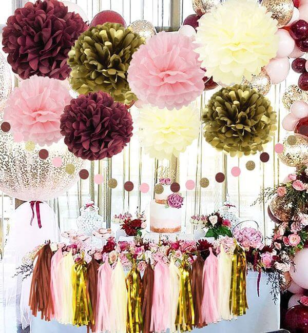 Flor de papel seda gigante