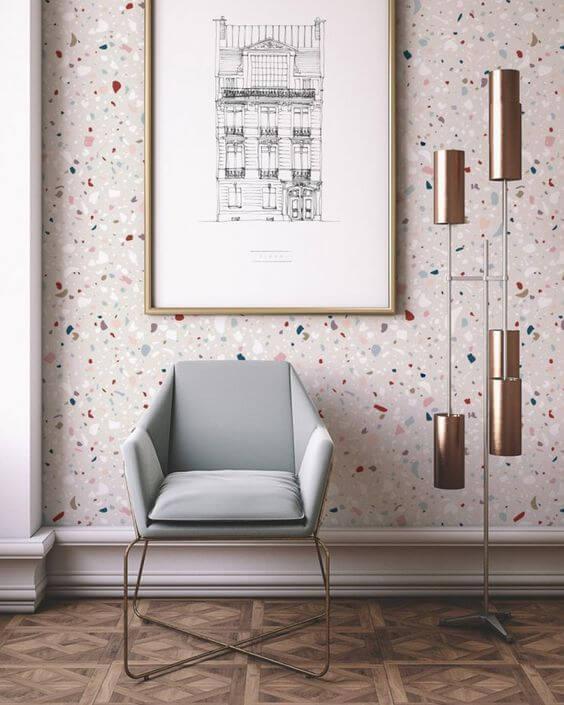 Granilite colorido na parede