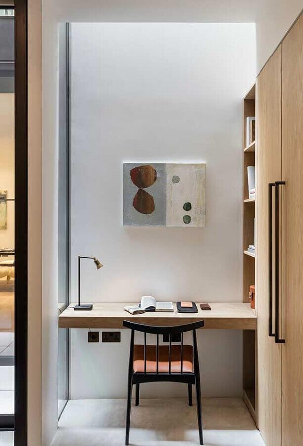 home office pequeno e simples Foto HomeYdeas
