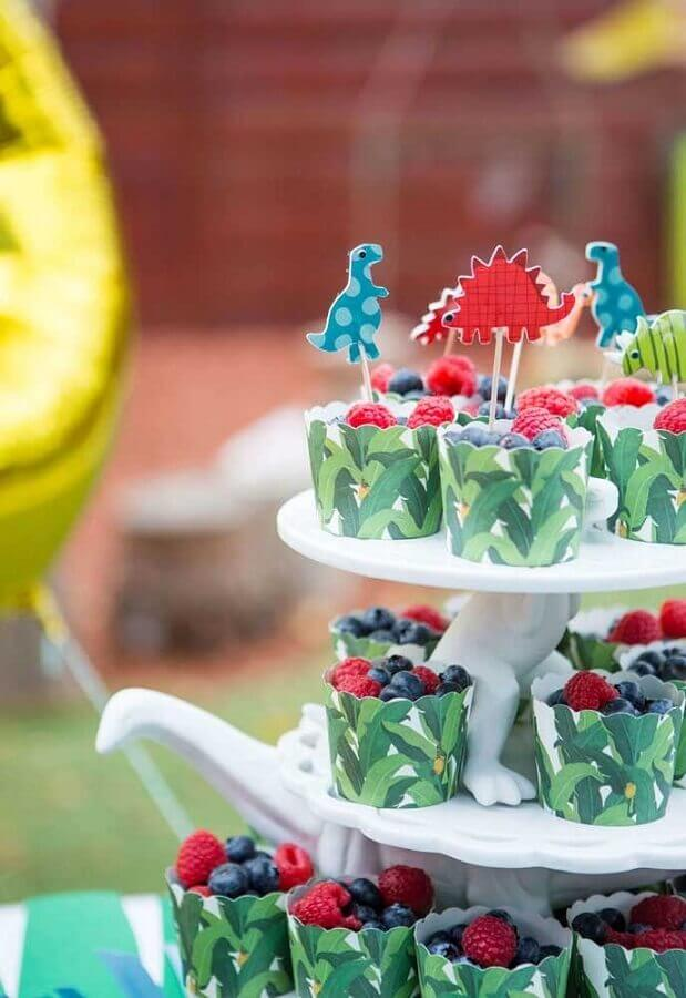 idea of decorated cupcakes for dinosaur birthday party Photo 100 Layer Cake