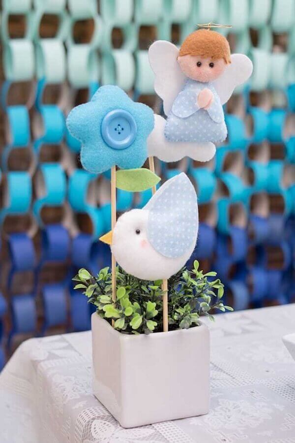 idea for decoration of christening boy Photo Dressed as Mother