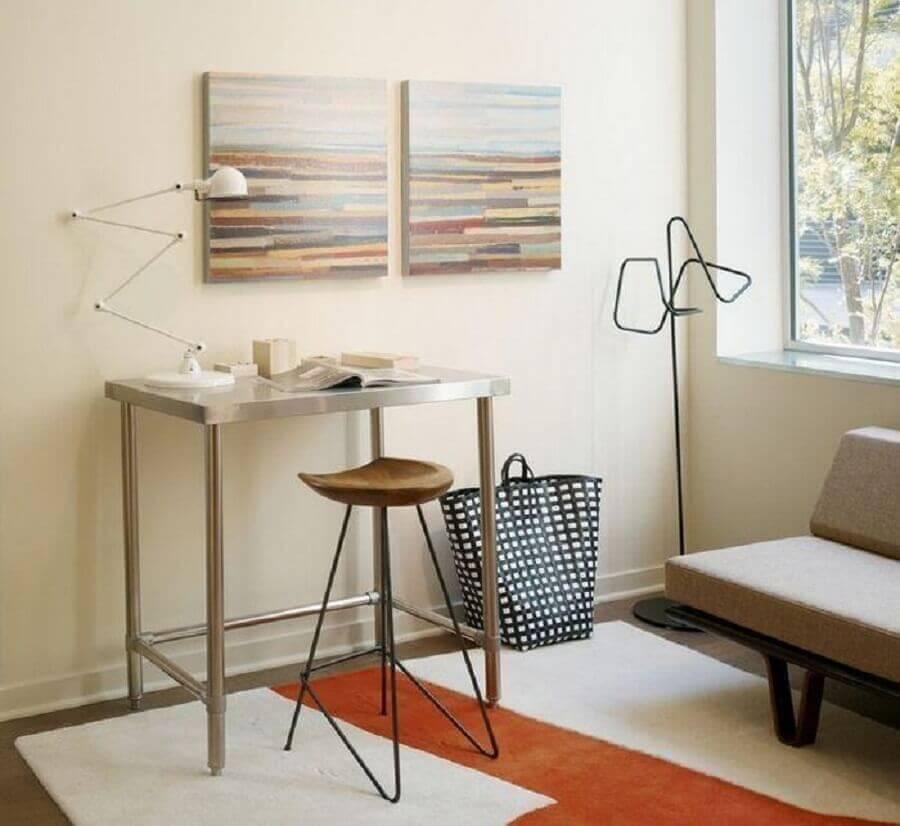 ideia para home office pequeno e simples na sala Foto Incorporated