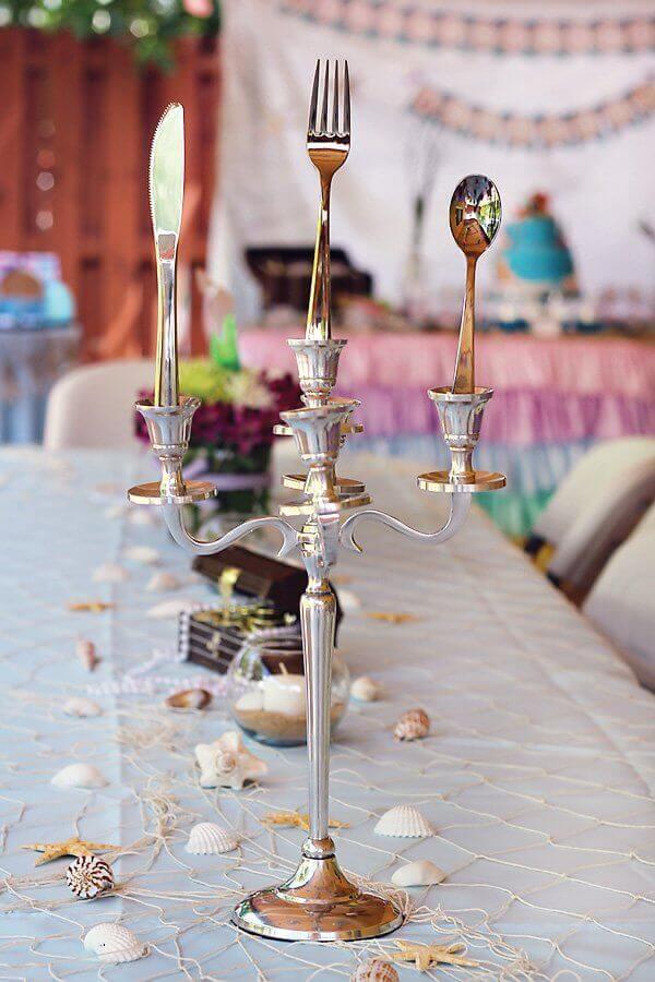 ideias para decoração de festa sereia  Foto OkChicas