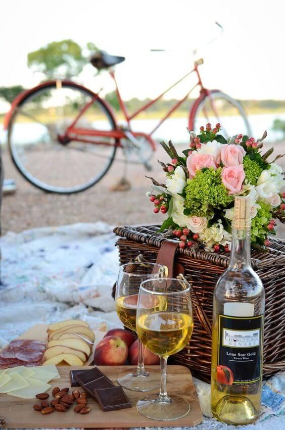 Ideias para dia dos namorados romântico estilo picnic