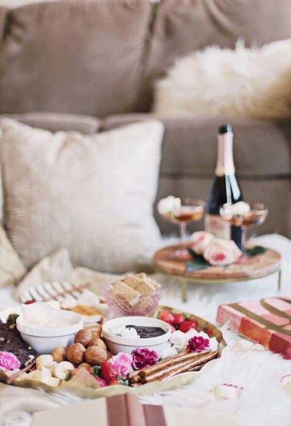 Ideias para dia dos namorados com café da manhã
