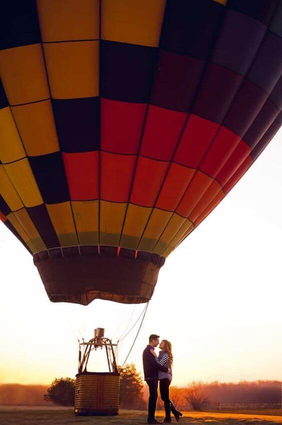 Ideias para dia dos namorados criativo com passeio de balão