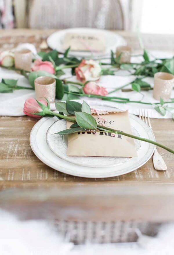 Ideias para dia dos namorados decorado com flor