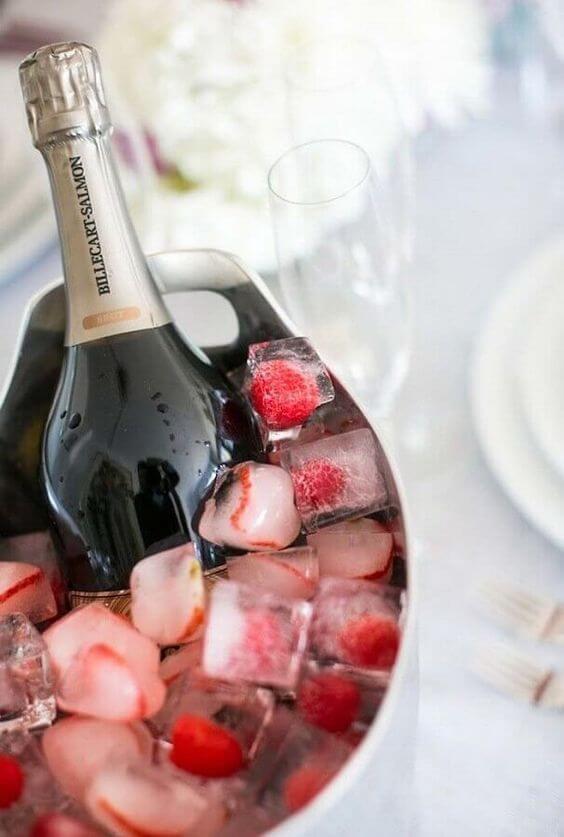 Ideias para dia dos namorados com champagne