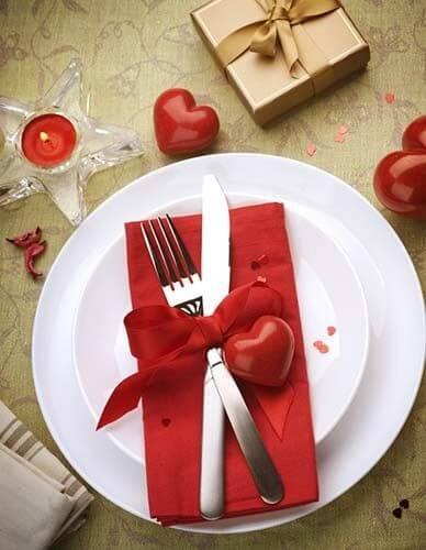 Ideias para dia dos namorados simples no jantar