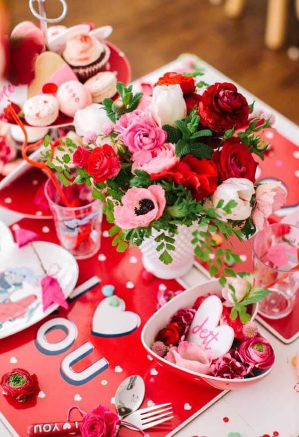 Ideias para dia dos namorados vermelho e rosa
