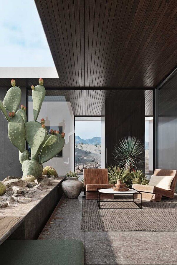 jardim de inverno para decorar casas de luxo Foto Studio AR&D Architects