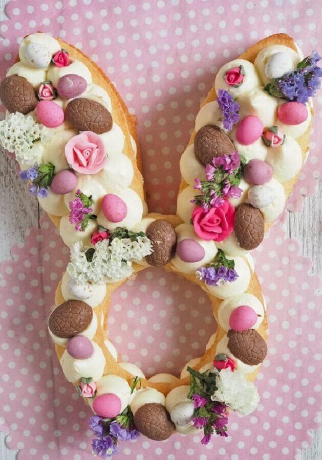 lindo bolo de páscoa em formato de coelho Foto Love Swah