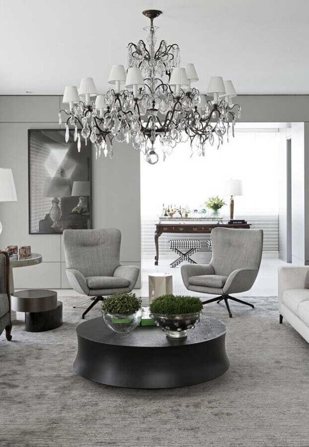 lustre de cristal para casas de luxo por dentro Foto Pinterest