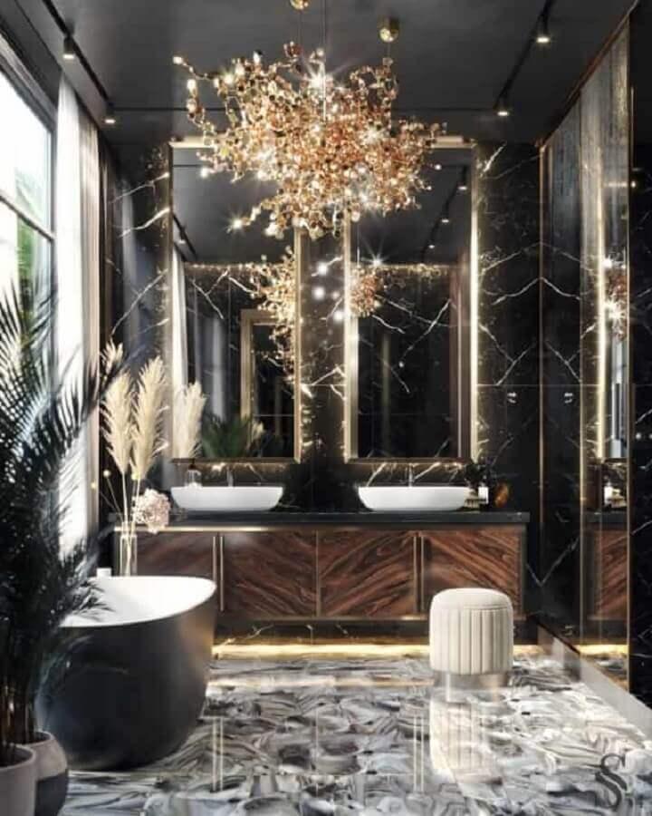 lustre para banheiro sofisticado e luxuoso Foto Office Home Design