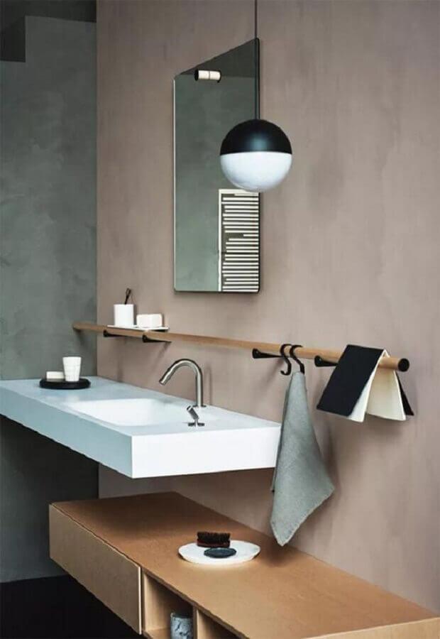 lustre pendente para decoração de banheiro moderno e minimalista Foto Pinterest