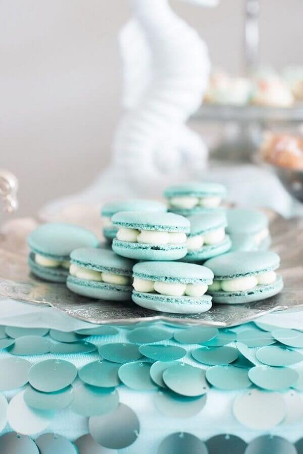macarons para festa de sereia  Foto A Minha Festinha