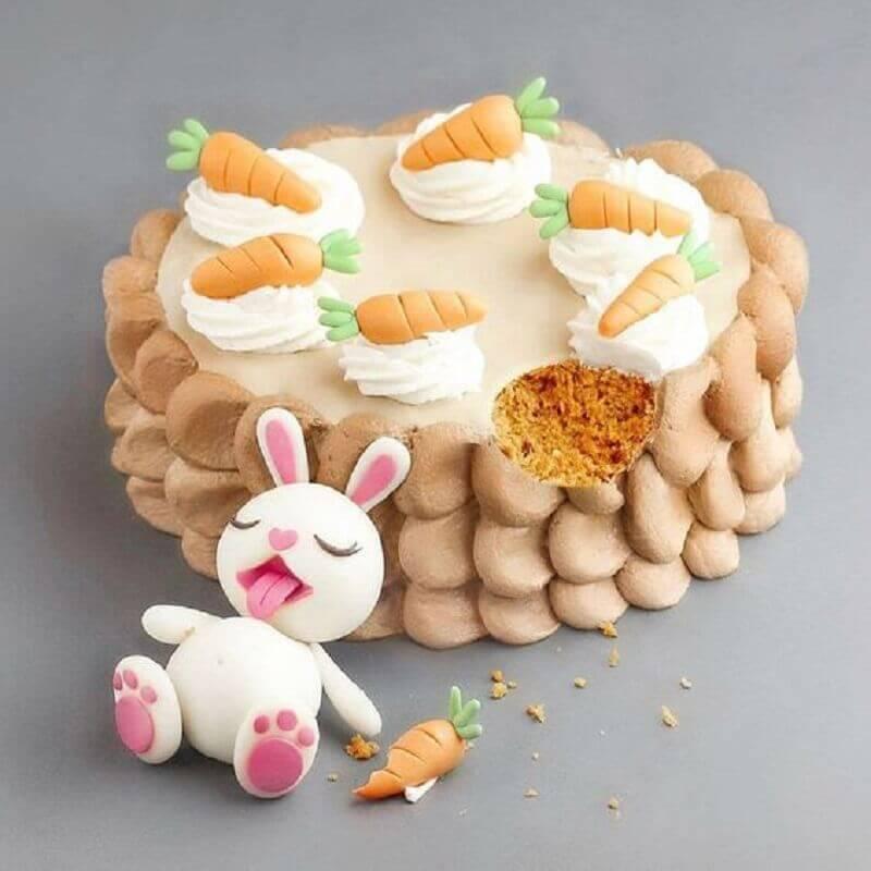 modelo de bolo de páscoa divertido Foto Curious Doodle