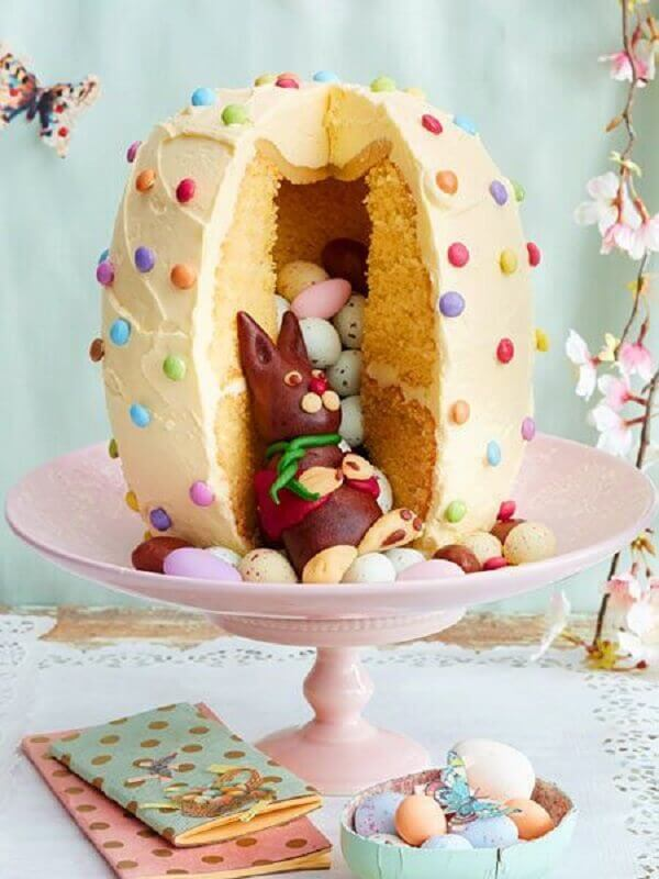 modelo de bolo de páscoa infantil Foto Mil Dicas de Mãe