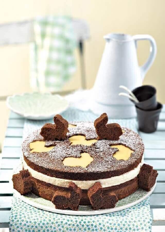 modelo de bolo de páscoa rústico decorado Foto Pinterest