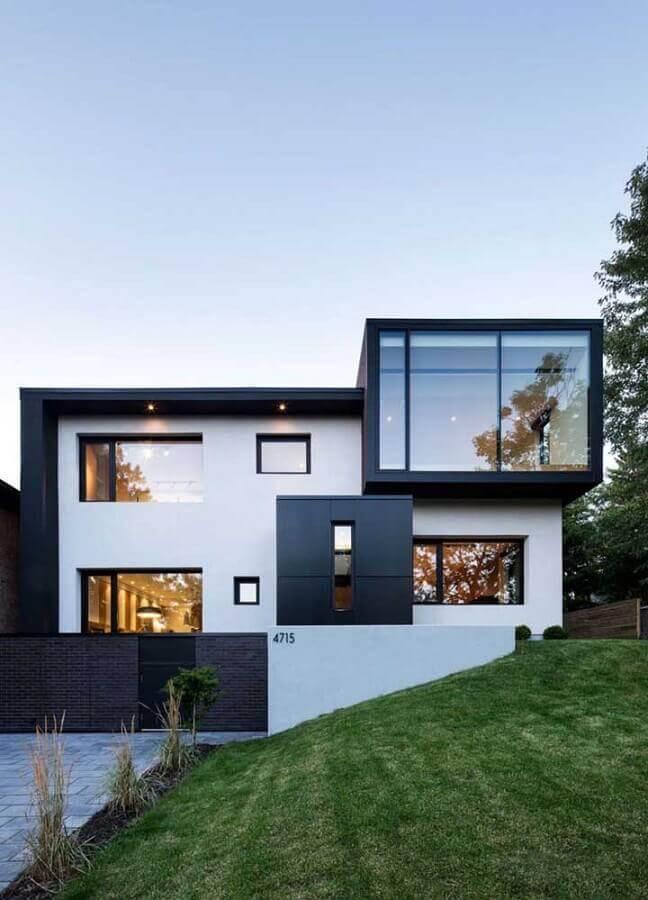modelo de fachadas de casas de luxo Foto Ideias Decor