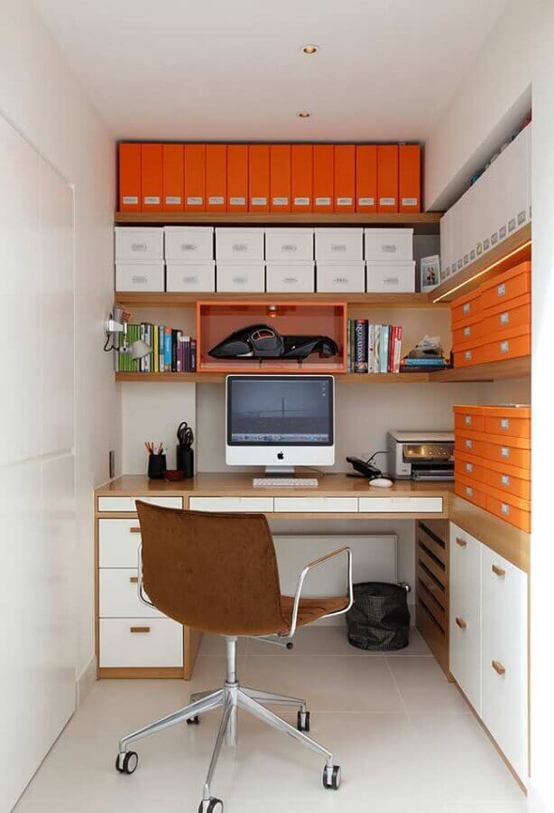 modelo de home office planejado Foto Pinterest