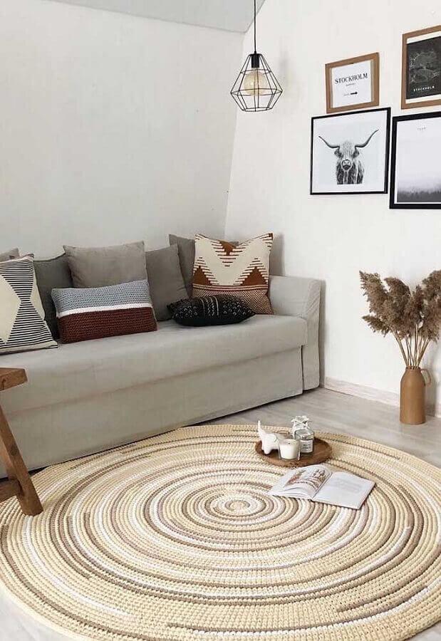 modelo de tapete de crochê para sala minimalista Foto Behance