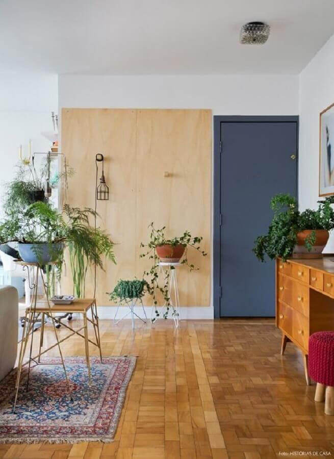 modelo simples para porta para sala de entrada Foto Histórias de Casa