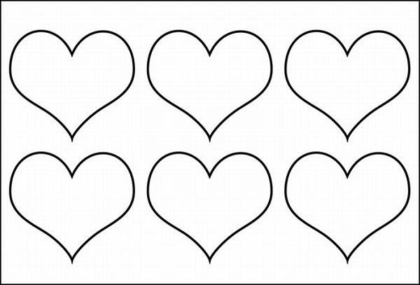 Molde de chaveiro de feltro em formato de coração