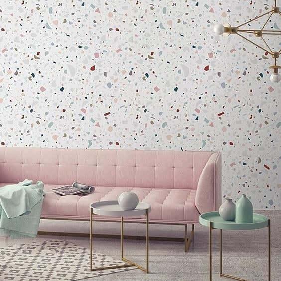Sala rosa e verde, super moderna