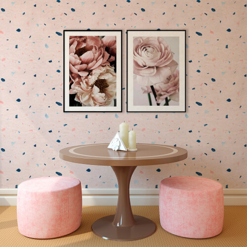 Papel de parede granilite cor de rosa