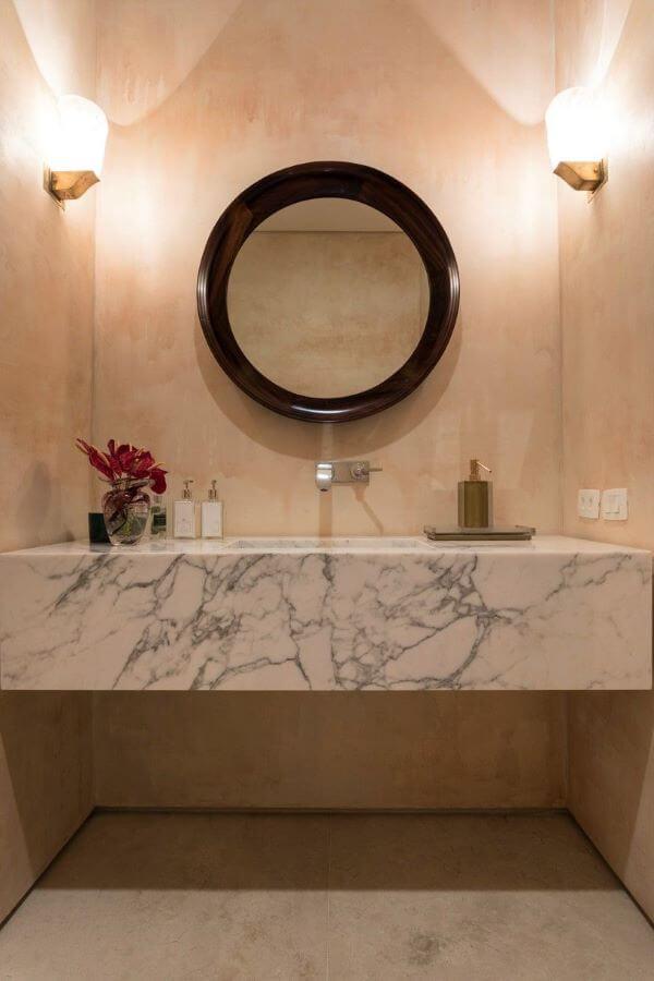 Pia de mármore sofisticada