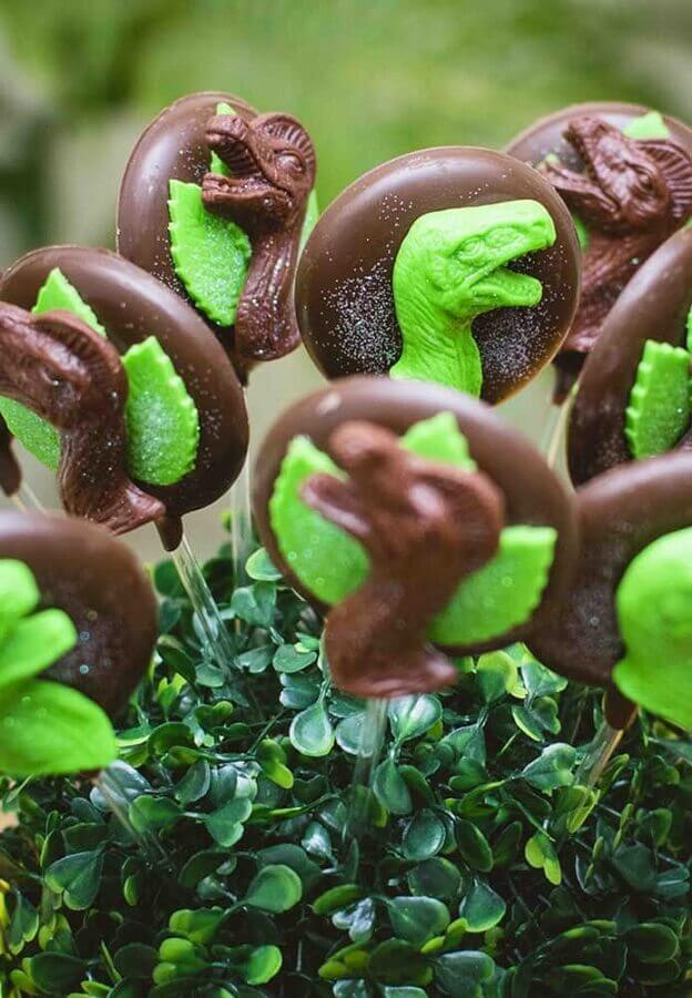 chocolate lollipops for decoration dinosaur party Foto Dale Detalles