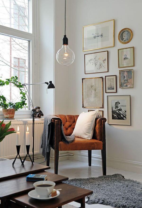 Poltrona de madeira para sala