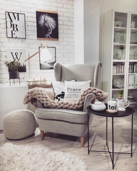 Poltronas com manta são confortáveis e lindas