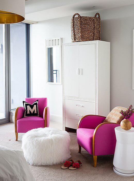 Poltronas para quarto modernas