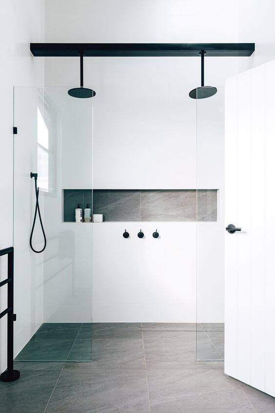porcelanato do banheiro