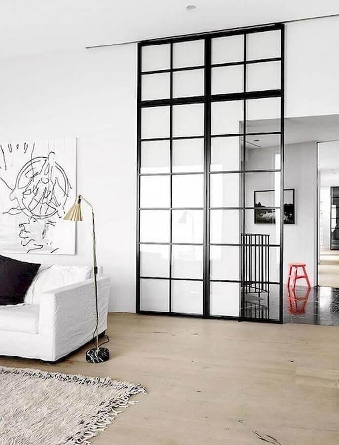 porta de correr para sala minimalista Foto Zozu