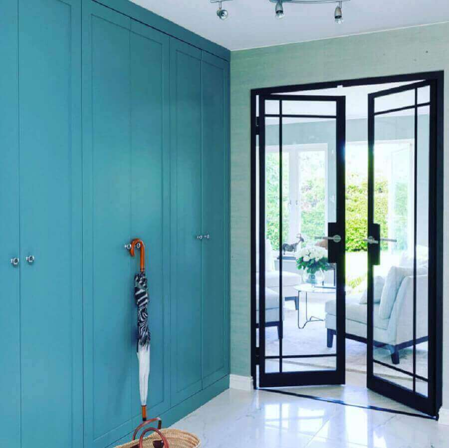 porta de vidro com ferro para sala Foto Metal Form