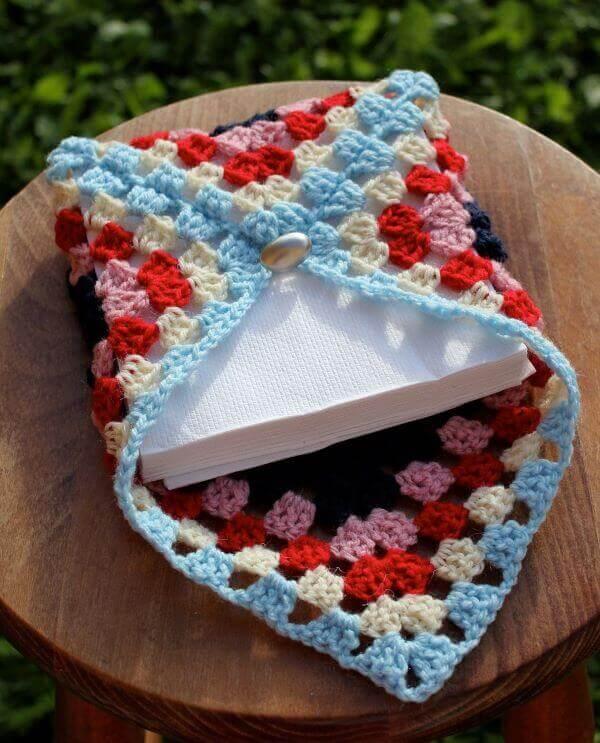 Porta guardanapo de crochê lindo